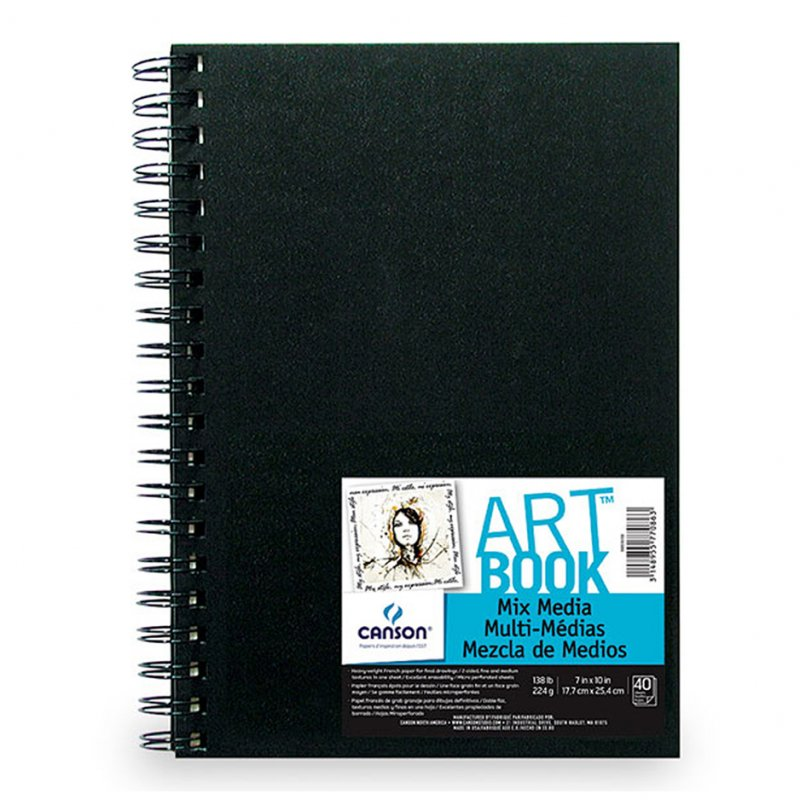 ARTBOOK MIX Media, 224 g, 40 str., 17,7x25,4 cm